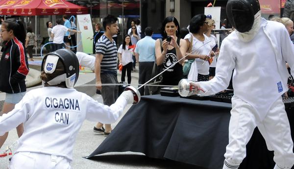 -Una exhibición de esgrima de los Juegos Panamericanos. Foto: Víctor Aguilar.